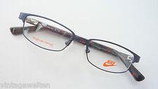 Blu Markenbrille Nike Metallo Ferretto Plastica Montatura Occhiali con Stile