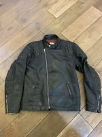 Highwayman Rivetts Ltd Motorcycle Leather Jacket Black 38 Vintage