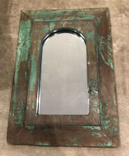 Antique Vintage Salvage Indian Arched Mughal Art Deco Mirror Original