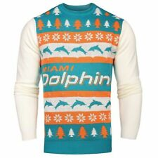 NFL MIAMI DOLPHINS LIGHTED CHRISTMAS SWEATER. Medium, NWT's