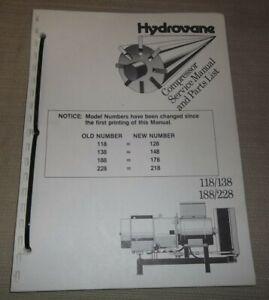 Hydrovane 118 138 188 228 128 148 178 218 Kompressor Service Ersatzteile Manuell