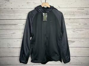 Nike Mens Black Therma Winterized Full Zip Hoodie Jacket Size Large NWT