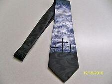 Fellow Christians, 3 Crosses, Church, Holy, God, Religious men's neck tie #2 NEW