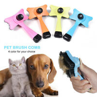 Multifunction Pet Dog Cat Deshedding Massage Brush Hair Fur Removal Comb