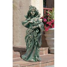 Gaia Mother Nature Maiden of the Forest Goddess Home Garden Bronze Finish Statue