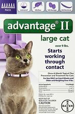 Advantage II Large Cat ~ Cats over 9 lbs, 6 Month Flea Control USA EPA APPROVED