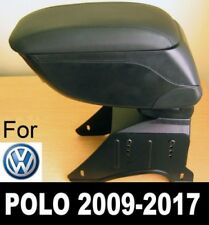 Bracciolo Portaoggetti Pelle Nero Specifico per VW Polo 6R 6C 2009+