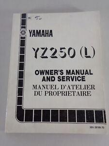 Taller Manual / Manual D'Entretien Yamaha YZ 250 L Moto de Cross Desde 08/1983