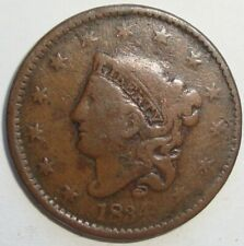 1834 US CORONET HEAD LARGE CENT PENNY COIN