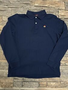 Boys Brooks Brothers Long Sleeve Polo Shirt Sz XL Navy Blue Nice!
