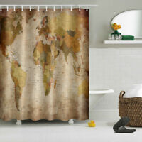 Horse shower curtain set 72 x 70 country western bathroom decor ebay world map 72x72 bathroom shower curtain waterproof fabric home decor ring set gumiabroncs Images