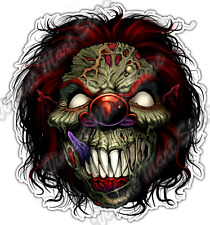 "Evil Clown Front Smiling Face Zombie Gothic Car Bumper Vinyl Sticker Decal 4.6"""
