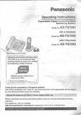 Panasonic Operating Instruction Manual for Expandable Digital Corded Cordless