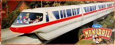 Disney World Disneyland Monorail Train Playset Red Stripe Talking Tram & Track