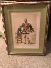"""Achille Deveria """"Prince Decosse"""" Watercolored Lithograph"""