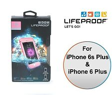 LifeProof FRE WaterProof Case Hard for iPhone 6S Plus Pink Lime Green NEW OEM