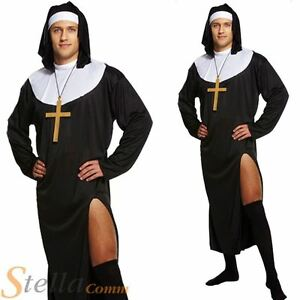 Adult Mens Nun Novelty Sexy Sister Habit Stag Do Fancy Dress Costume Outfit