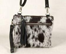 Real Cowhide Cross body Purse Handbag & Hand Clutch  Cow Hide Leather  SA-337