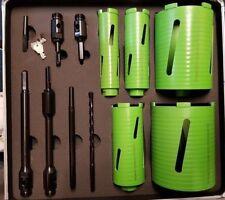 New 12 Piece Plumber Dry Diamond Hole Core Drill Bit Kit Set