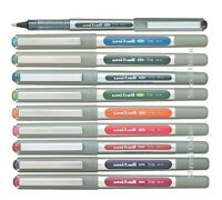 10 x Uni-Ball EYE UB157 Medium 0.7mm Rollerball Pen Pack of 10 mix Colour Set