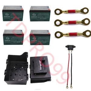 4PACK 12V 12Ah 6-DZM-12 Lead acid Battery for ATV QUAD BUGGY GO KART RAZOR MOWER