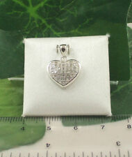 Sassi CZS5042P Ladies 925 Sterling Silver Pave Set CZ Heart Pendant & 18'' Chain