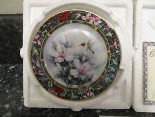 The Bradford Exchange Collector's Plate The Ruby-throated Hummingbird Lena Liu