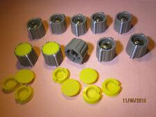 10 X Botón Collet Fix Marrón Inst Tapa Amarillo Cuerpo Eje de 1/4 pulgadas