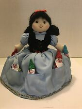 Vintage Topsy Turvy Fabric Flip Doll Snow White  7 Dwarfs Wicked Witch Rosalina