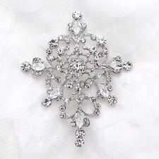 Vintage Style Bridal Rhinestone Crystal Cross Dress Belt Wedding Brooch Pin