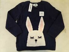 Old Navy Kids Bunny Sweater, Navy, size 5T