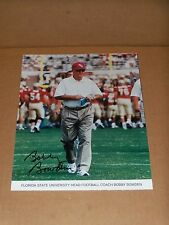 Bobby Bowden, Florida State, Signed 8 x 10, Game Action Magazine Page/Insert