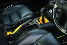 FITS FIAT COUPE GEAR & HANDBRAKE REAL TOP GRAIN YELLOW & BLACK LEATHER