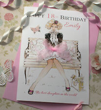 Personalised Card Daughter Granddaughter Birthday Friend Niece 17th 18th 19th