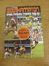 10/09/1974 Southampton V NOTTS COUNTY FOOTBALL LEAGUE CUP []. questo oggetto è stato