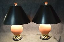 Pair of Mackenzie-Childs Ltd. Terracotta Electric Lamps