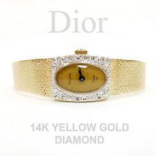 VINTAGE DIAMOND 14K YELLOW GOLD BULOVA DIOR WATCH (23.7 Grams)