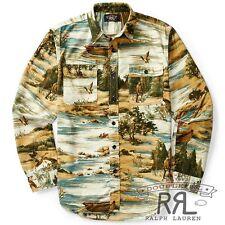 RRL Ralph Lauren 1940s Matlock Hunting Brushed Cotton Work Shirt- MEN- XL