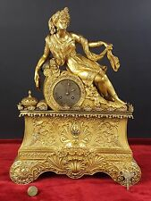 DESKTOP CLOCK IN BRONZE. EMPIRE STYLE. CLOCK WORK. XIX CENTURY.