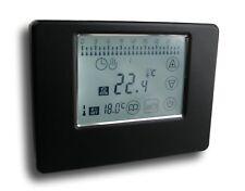 Digital Funk Thermostat Touchscreen Alu schwarz #788