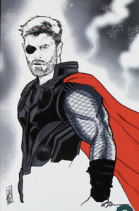 Thor - Marvel - Lithograph signed by artist Tom Hodges #/25 Limited