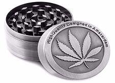 Tobacco Herb Grinder Spice Herbal Alloy Smoke Crusher 4 Piece Metal Chromium New