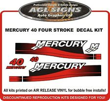 MERCURY 40 HP  Four Stroke Outboard Decal Kit  reproductions  4 Stroke