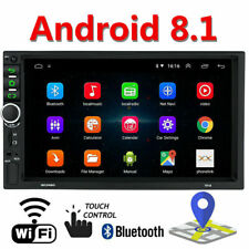 Android 8.1 Car  Radio Stereo GPS Navigation MP5 Player Double 2Din WIFI 7