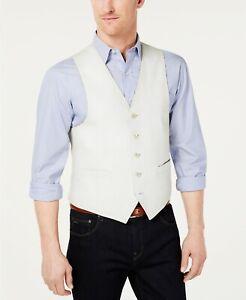 Lauren Ralph Lauren Classic-Fit Linen Vest Mens 2XL XXL Off White $125