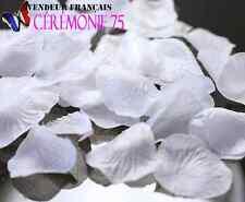 LOT DE 200 PETALES de Roses BLANC décoration MARIAGE CEREMONIES FETES