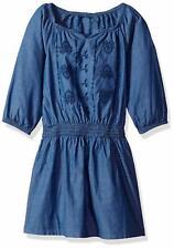 Lucky Brand Girls' Long Sleeve Fashion Dress, Amanda Suki Wash, 3T