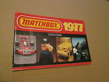 1977 SUPERFAST MATCHBOX CATALOGUE AVG. SHAPE NICE PICTURES  LOOK