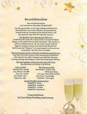 45th Sapphire Wedding Anniversary Print Present Gift PERSONALISED-Day in History