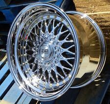 Platinum Chrome ESM-002R 17x10 5x100 5x114.3 Wheels Rims  VW Jetta Golf Honda